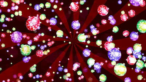 HD Loopable Background with nice falling xmas balls Animation