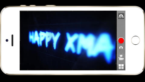 Happy Xmas Text Message Animation