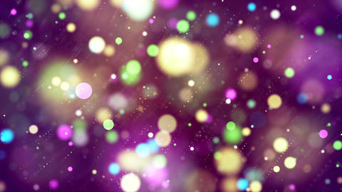 HD Loopable Background with nice sparkling multicolor bokeh Animation