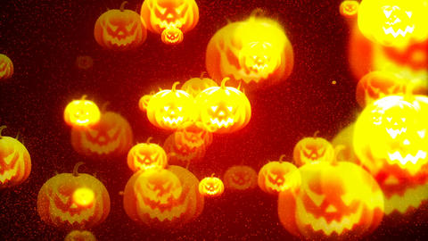 HD Loopable Background with nice halloween pumpkins Animation