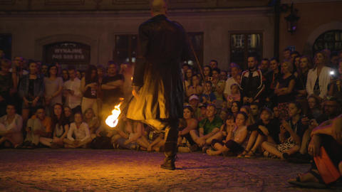 Krystian Minda Sword Swallower Show in Lublin Live Action