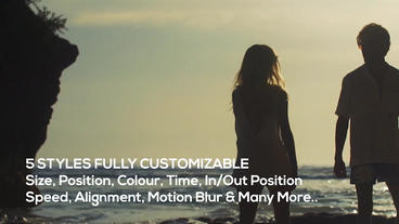 Video Caption - Text Overlay Motion Graphics Template