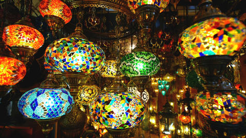 Famous Grand Bazar shop in Istanbul Turkey Footage