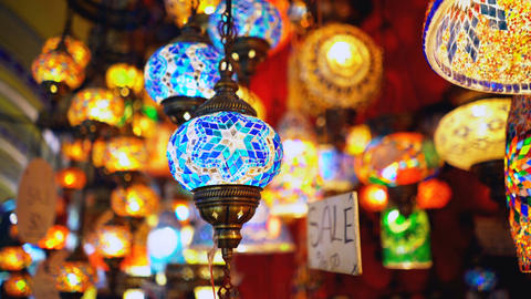 Famous Grand Bazar shop sale in Istanbul Turkey Footage