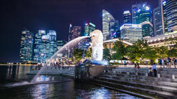 Time lapse at Singapore city Footage