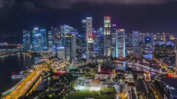 Marina bay quay in the centre of Singapore Footage