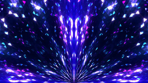 Blue Glitter Background 4k VJ Stage Loop Animación