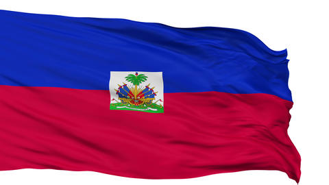 Isolated Waving National Flag of Haiti Animation