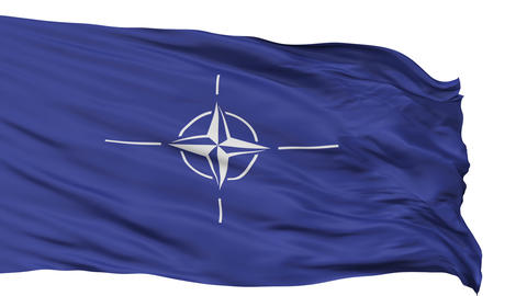 Isolated Waving Flag of Nato Animation