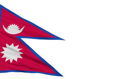 Isolated Waving National Flag of Nepal Animation