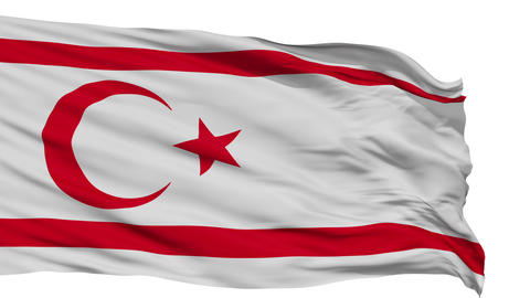 Isolated Waving National Flag of Northern Cyprus Animation