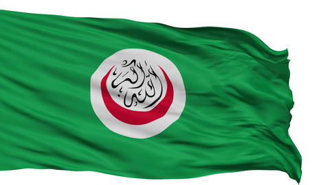 Isolated Flag Organisation of Islamic Cooperation Animation