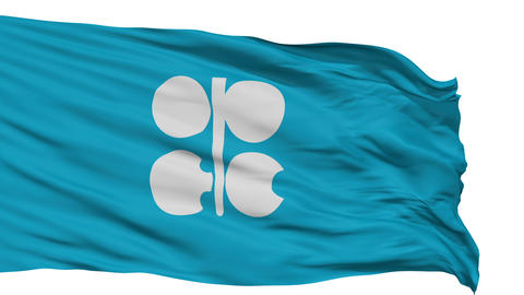 Isolated Waving Flag Organization of Petroleum Exporting Countries Animation