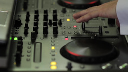 DJ who mixing music at a party and keep hand on buttons 98 Footage