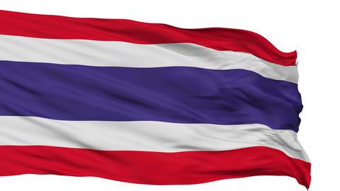 Isolated Waving National Flag of Thailand Animation
