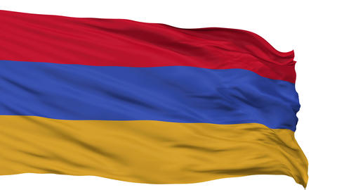 Isolated Waving National Flag of Armenia Animation