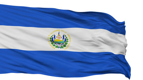 Isolated Waving National Flag of El Salvador Animation