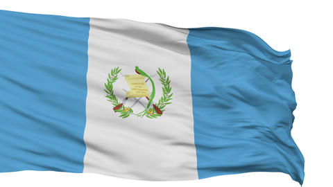 Isolated Waving National Flag of Guatemala Animation