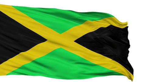 Isolated Waving National Flag of Jamaica Animación