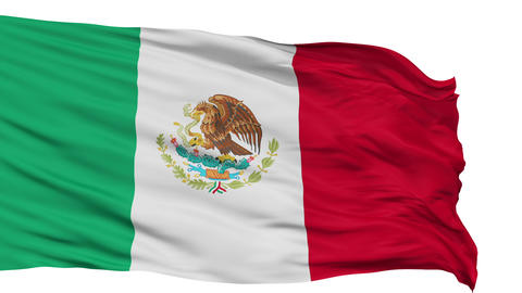 Isolated Waving National Flag of Mexico Animation