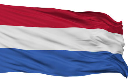 Isolated Waving National Flag of Netherlands Dutch Animation