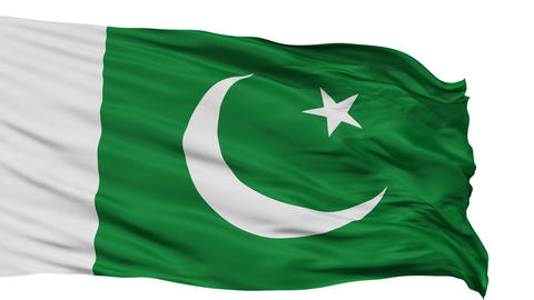 Isolated Waving National Flag of Pakistan Animation