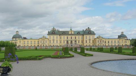 drottningholm palace, stockholm, sweden, timelapse, zoom out, 4k Footage