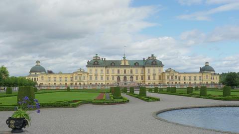drottningholm palace, stockholm, sweden, timelapse, 4k Footage