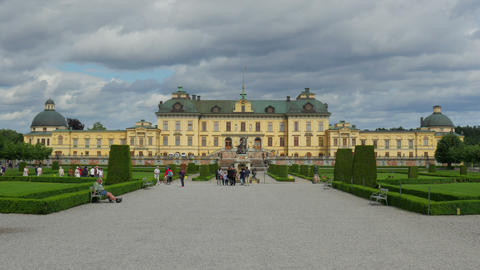 STOCKHOLM - SWEDEN, AUGUST 2015: drottningholm palace, timelapse, zoom out Live Action