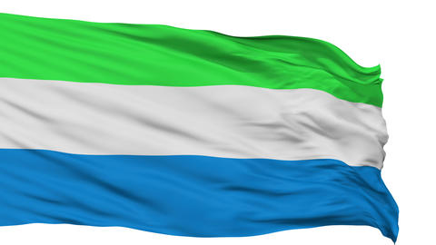 Isolated Waving National Flag of Sierra Leone Animation
