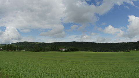 norwagian village farm, near oslo, norway, timelapse, zoom in, 4k Footage