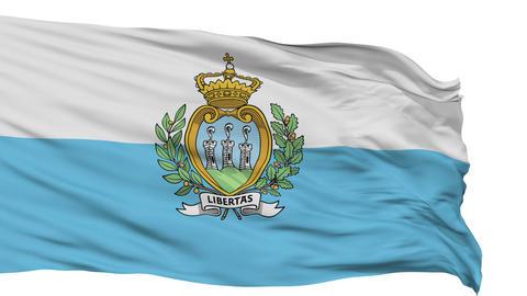 Isolated Waving National Flag of San Marino Animation