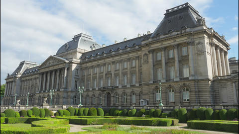 royal palace of brussels, belgium, timelapse, 4k Footage