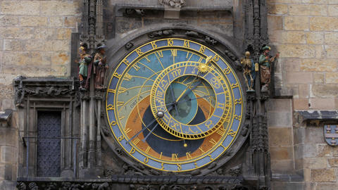 astronomical clock, prague, czech republic, timelapse, zoom in, 4k Footage