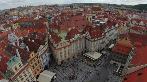 prague, old town square, czech republic, timelapse, zoom in, 4k Footage