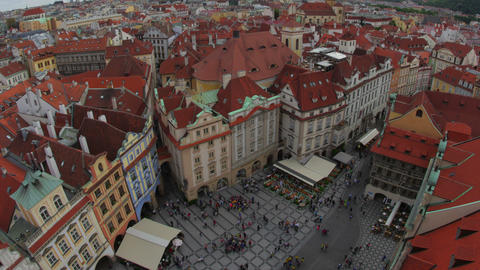 prague, old town square, czech republic, timelapse, zoom out, 4k Footage