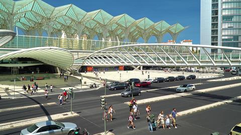 Gare do Oriente (Lisbon Oriente Station) Footage