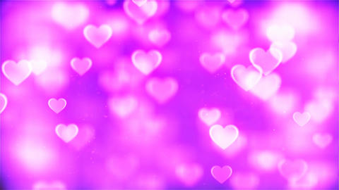 HD Loopable Background with nice abstract pink flying hearts Animation