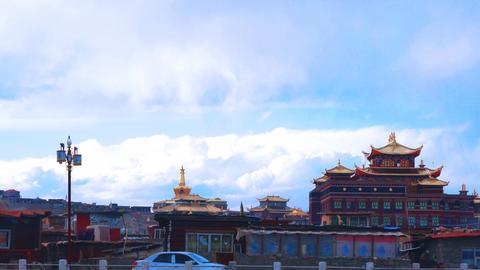 Yarchen Gar Monastery in Sichuan Footage