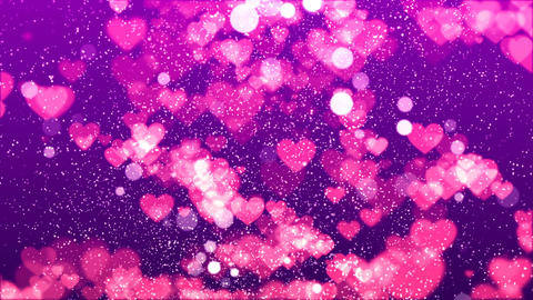 HD Loopable Background with nice flying hearts Animation