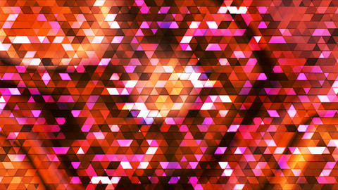 Broadcast Twinkling Polygon Hi-Tech Triangles, Multi Color, Abstract, Loopable CG動画素材