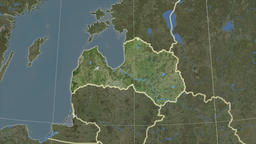 Latvia and neighborhood. Satellite Animation