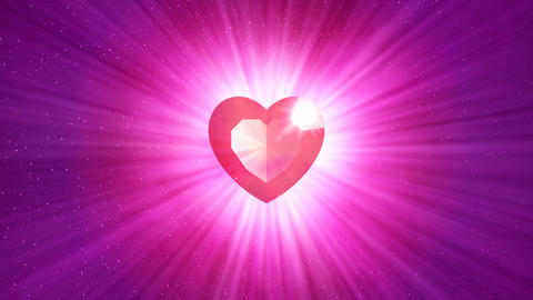 HD Loopable Background with nice abstract shining heart Animation