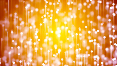HD Loopable Background with nice abstract golden fireworks Animation