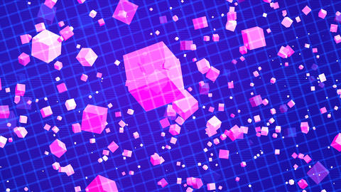 HD Loopable Background with nice matrix purple cubes Animation