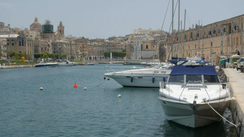 Valletta, Malta . Boats and ships in port Image