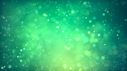 HD Loopable Background with nice abstract green light and particles Animation