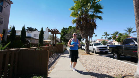 Video of woman running in California in 4K Footage