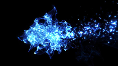 fire & particle line, abstract image, blue CG動画素材