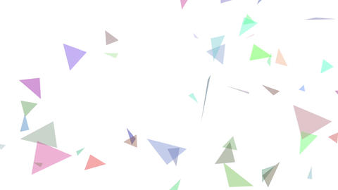 triangle particle CG動画素材